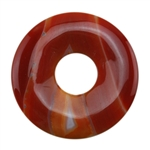 Glass Stone - Orange Pendant Round 42mm Pkg - 1