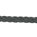 Leather Braid 10mm - Grey - 6""