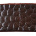 Reptile Textured Leather - 10mm Brown with Burgundy - 6""
