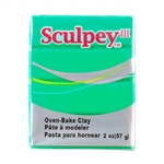 Sculpey III Polymer Clay - Emerald 2 oz block