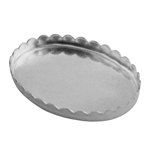 Bezel Cup Oval Scalloped 18x25mm
