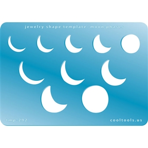 Jewelry Shape Template Moon Phases