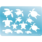 Jewelry Shape Template - Turtles