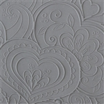 Texture Tile - Blooming Hearts Fineline