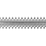 Patterned Strip - 935 Sterling Silver - Sweetheart 24 gauge - 6 Inches