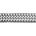 Patterned Strip - 935 Sterling Silver - Round Stud - 6 Inches