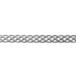 Patterned Strip - 935 Sterling Silver - Knot - 6 Inches