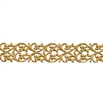 Patterned Strip - Brass - Blooming Heart - 6 inches
