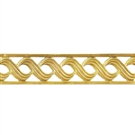 Patterned Wire - Brass - Triple S with Edging 18 gauge Dead Soft - 6""