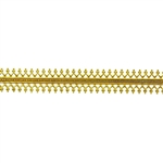 Patterned Strip - Brass - Double Gallery #1 24 gauge - 6 inches