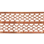 Patterned Strip - Copper - Mesh Ribbon - 6 inches