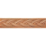 Patterned Strip - Copper - Rope #1 - 6 inches