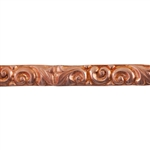 Patterned Strip - Copper - Leaves & Swirls - 6 inches
