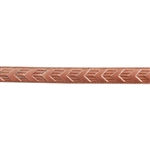 Patterned Strip - Copper - Chevron - 6 inches