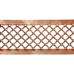Patterned Strip - Copper - Beaded Crosshatch - 6 inches
