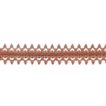 Patterned Strip - Copper - Double Gallery #2 Small - 6 inches