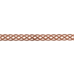 Patterned Strip - Copper - Knotted Rope - 6 inches