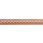 Patterned Strip - Copper - Knotted Rope with Edge - 6 inches